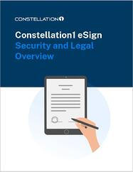 Constellation1 eSign Security and Legal Overview