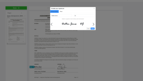 eSignature Customize Signer Screen