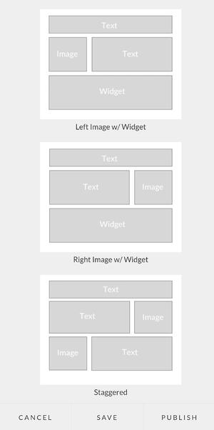 Constellation1 Websites - Choose a layout